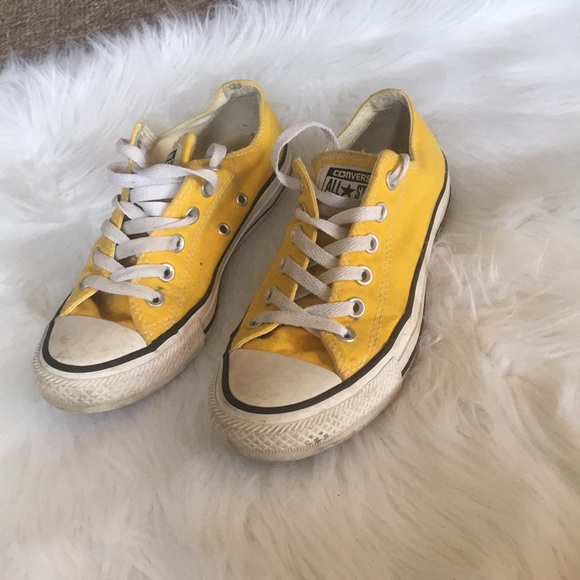 f074109e0546 Converse Shoes - Converse Yellow Low-tops Size 7